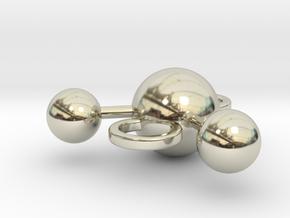 water molecule bead in 14k White Gold