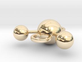 water molecule bead in 14k Gold Plated Brass