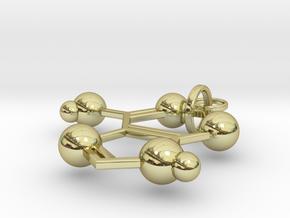 Adenine(ring added) in 18k Gold Plated Brass
