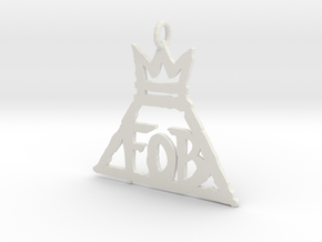 FOB 1 Inch necklace pendant in White Strong & Flexible