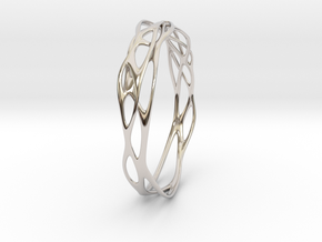 Incredible Minimalist Bracelet #coolest (S or M/L) in Rhodium Plated Brass: Small