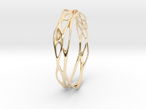 Incredible Minimalist Bracelet #coolest (S or M/L) in 14k Gold Plated Brass: Small