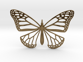 Smooth Monarch Pendant in Polished Bronze