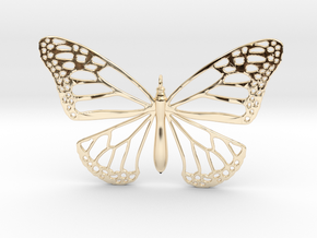 Smooth Monarch Pendant in 14k Gold Plated