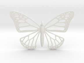Strong Monarch Pendant in White Natural Versatile Plastic