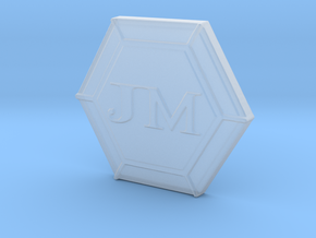 JM's Personal Logo and Board Game Lager in Smooth Fine Detail Plastic