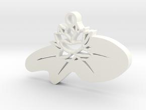 Zen Lotus Pendant in White Processed Versatile Plastic