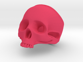 "The ""Ct Skull Ring"" in Pink Processed Versatile Plastic"