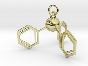 Triphenylphosphine(ring added) in 18k Gold