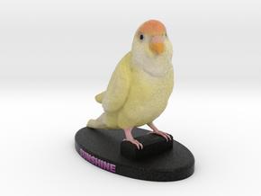Custom Bird Figurine - Sunshine in Full Color Sandstone