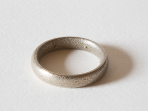 Max Pain Ring in Polished Bronzed Silver Steel: 8 / 56.75
