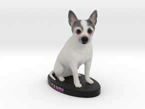 Custom Dog Figurine - Candi in Full Color Sandstone