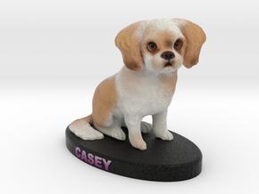 Custom Dog FIgurine - Casey in Full Color Sandstone