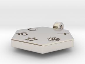 Statement for Peace: neutral pendant in Platinum