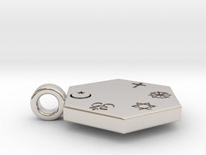Statement for Peace: Muslim pendant in Platinum