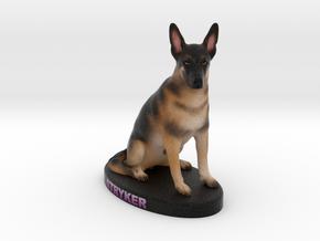 Custom Dog Figurine - Stryker in Full Color Sandstone