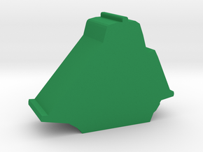 Game Piece, Sloop Sailing Ship in Green Processed Versatile Plastic