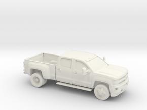 1/64 2015 Chevrolet Silverado Dually in White Natural Versatile Plastic