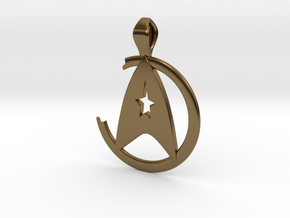 Khan Pendant - Star Trek in Polished Bronze