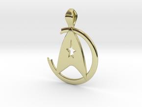 Khan Pendant - Star Trek in 18k Gold Plated Brass
