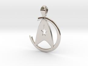 Khan Pendant - Star Trek in Rhodium Plated Brass