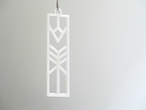 Lilly Art Deco Pendant in White Strong & Flexible