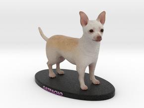 Custom Dog Figurine - Gazpacho in Full Color Sandstone