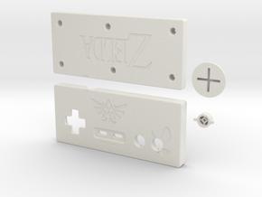 Zelda-style NES-controller in White Natural Versatile Plastic