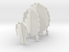 Wooden Sheep A 1:12 in White Strong & Flexible