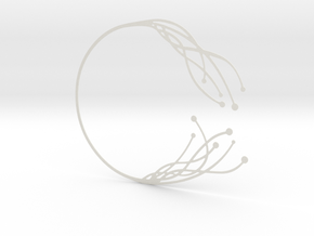 Neural Necklace in White Natural Versatile Plastic