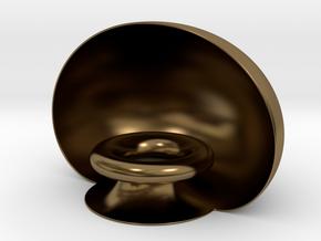 Golden Pedestal in Polished Bronze