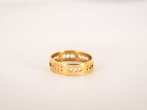 Jagged Ring Size 6 in Natural Brass