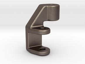 Clutch Foot Peg Lowering Bracket For KTM 390 Duke in Polished Bronzed Silver Steel