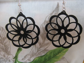 Nine Torus Star Earrings in Black Natural Versatile Plastic