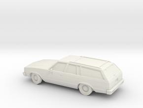 1/87 1980 Chevrolet Malibu Station Wagon  in White Natural Versatile Plastic