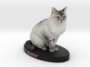 Custom Cat Figurine - Baby in Full Color Sandstone