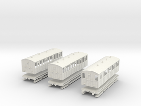 District Railway four wheelers in White Natural Versatile Plastic