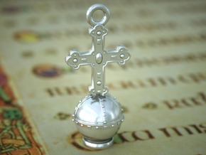 Orb Pendant in Polished Silver