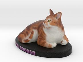 Custom Cat Figurine - TheBoober in Full Color Sandstone