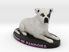 Custom Dog Figurine - Pandora in Full Color Sandstone