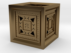 Strange Cube in Polished Bronze