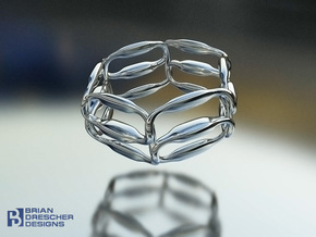 18 Padz Conduit Ring in Natural Silver