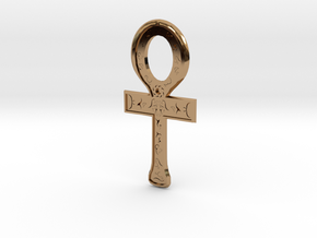 Rune Ankh in Polished Brass