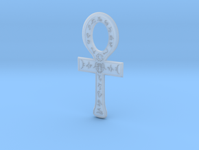 Rune Ankh in Smooth Fine Detail Plastic