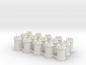 CB-02 - 15-Chimneys 00 gauge in White Natural Versatile Plastic