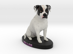 Custom Dog FIgurine - Miller in Full Color Sandstone