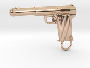 Astra gun in 14k Rose Gold Plated Brass