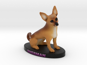 Custom DOg Figurine - Sherman in Full Color Sandstone