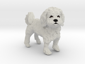 Custom Dog FIgurine - Rowdy in Full Color Sandstone