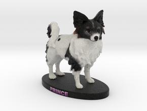Custom Dog Figurine - Prince in Full Color Sandstone
